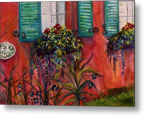 Stucco Metal Print featuring the painting Summer by Mary Sonya Conti