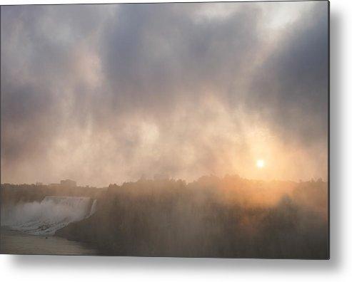 Sunrise Metal Print featuring the photograph Sunrise Falls by Steven R Breininger
