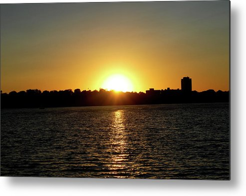 Sunset Metal Print featuring the photograph Sunset In Minneapolis by Karina Khan