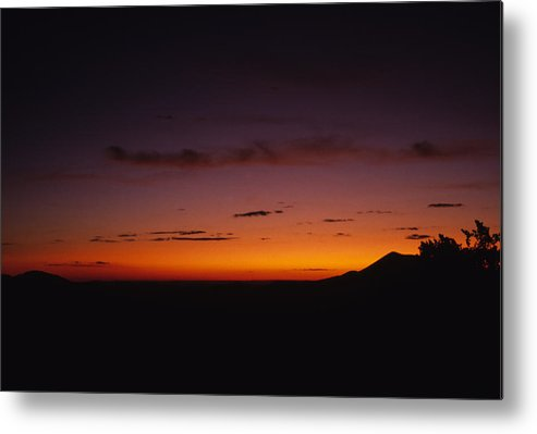 Sunset Crater Metal Print featuring the photograph Sunset In The Desert by Stacy Gold