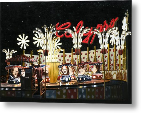 Surreal Metal Print featuring the painting Surreal Carnival by Dave Martsolf
