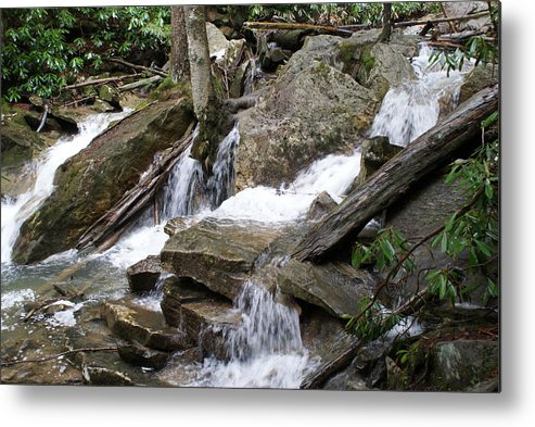 Water Metal Print featuring the photograph Swallow Falls by Heather Green
