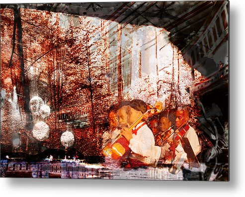 Music Metal Print featuring the digital art Symphony In The Park by Xavier Carter