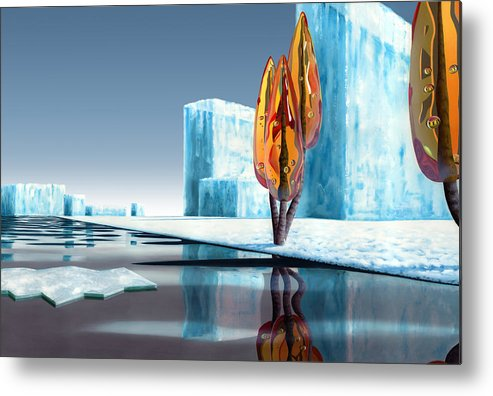 Architecture Metal Print featuring the painting Taxus Glacialis by Patricia Van Lubeck