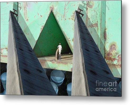 Abstract Metal Print featuring the digital art Temple by Ron Bissett