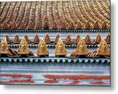 Thailand Metal Print featuring the photograph Thai Temple Roof by Valerie Brown