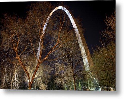 Reid Callaway St Louis Metal Print featuring the photograph The Arch 3 St Louis Missouri Gateway Arch Art by Reid Callaway