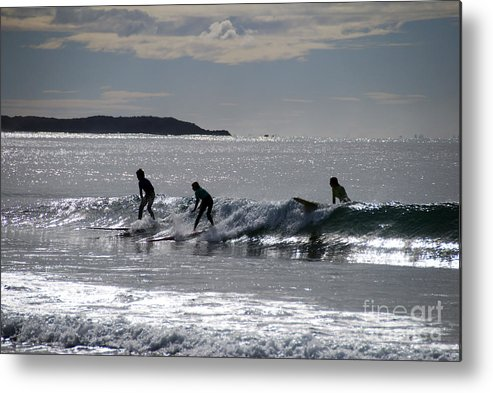 Beach Metal Print featuring the photograph The Awesome Threesome by Joe Scoppa
