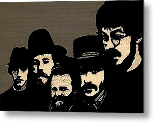 Musicians Metal Print featuring the painting The Band by Jeff DOttavio