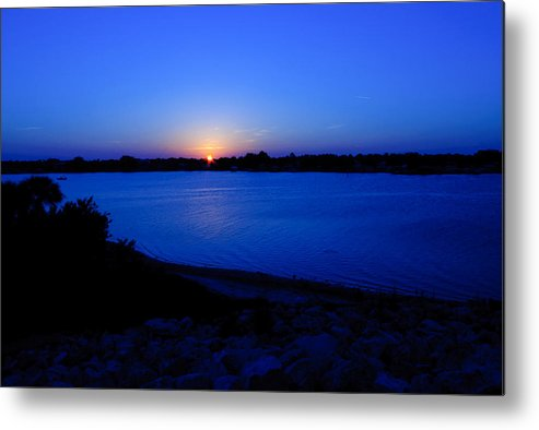 Blue Metal Print featuring the photograph The Blues by Laura DAddona