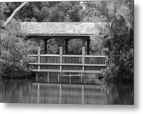Architecture Metal Print featuring the photograph The Bridges Of Miami Dade County by Rob Hans