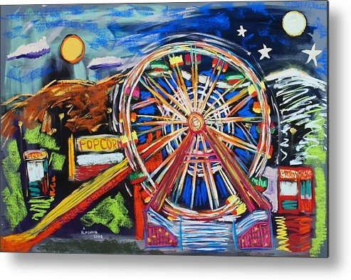 Carnival Metal Print featuring the painting The Carnival Concoction by Albert Almondia