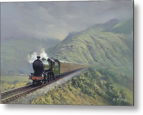 Steam Metal Print featuring the painting the Great Marquess by Richard Picton