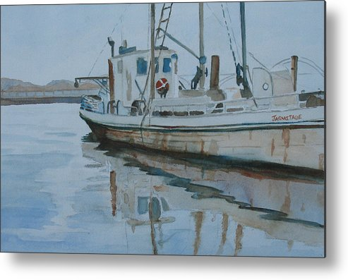 Boat Metal Print featuring the painting The Helen Mccoll At Rest by Jenny Armitage