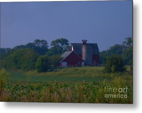Metal Print featuring the photograph The Red Barn by Michelle Hastings