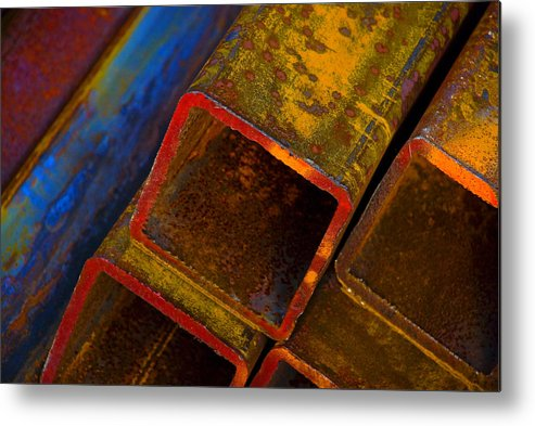 Abstract Metal Print featuring the photograph The River by Skip Hunt