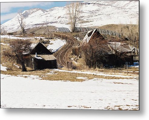 Old Buildings Metal Print featuring the photograph The Road Is Still Used by Mike Burton