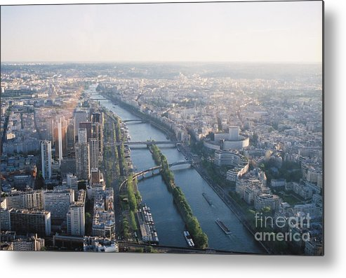 City Metal Print featuring the photograph The Seine River In Paris by Nadine Rippelmeyer