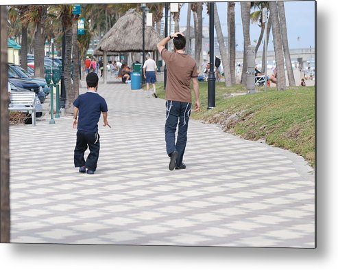 Man Metal Print featuring the photograph The Walk by Rob Hans
