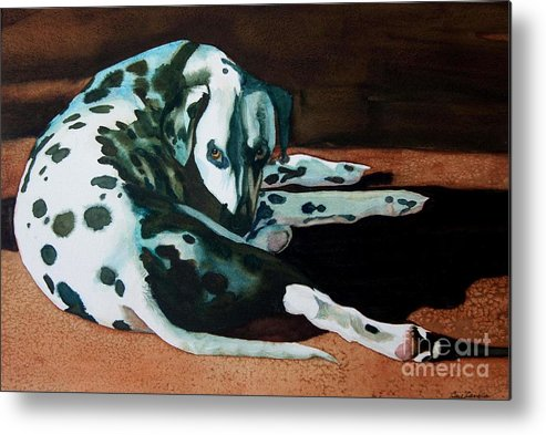 Animal Metal Print featuring the painting The Watcher by Gail Zavala