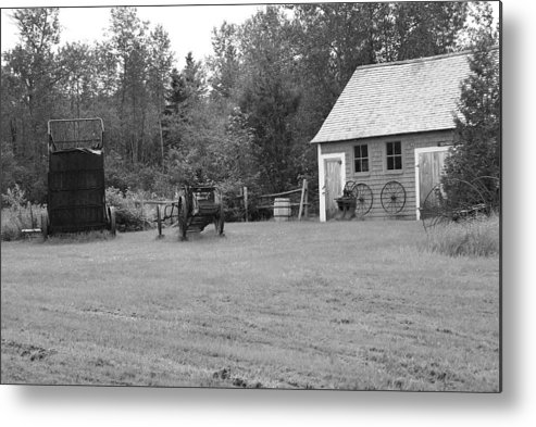 Black And White Metal Print featuring the photograph Time Gone By by Lisa Hebert