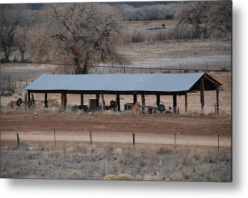 Architecture Metal Print featuring the photograph Tractor Port On The Ranch by Rob Hans
