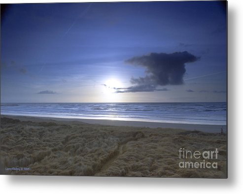 Ocean Metal Print featuring the photograph Trails End by Larry Keahey