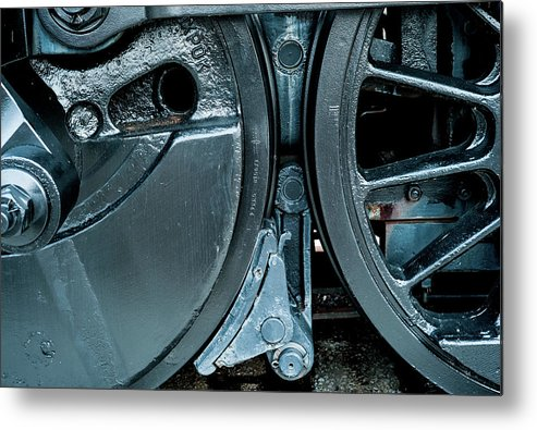 Kentucky Metal Print featuring the photograph Train Wheels by Steve Wile