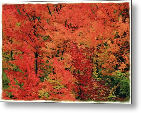 Landscape Metal Print featuring the mixed media Vermont Autumn by Boyd Norton