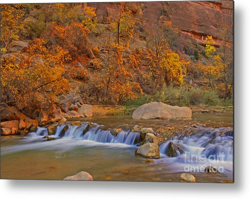 Utah Metal Print featuring the photograph Virgin River In Autumn by Dennis Hammer