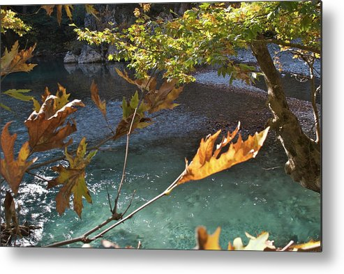 Voidomatis River Metal Print featuring the photograph Voidomatis River by Loukianos Petrovas
