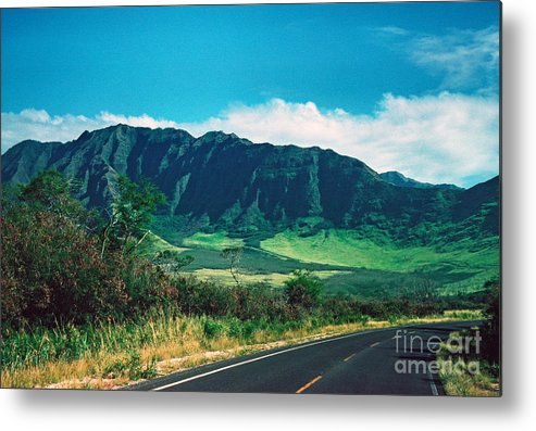 Highway Metal Print featuring the photograph Waianae Mountains by Thomas R Fletcher