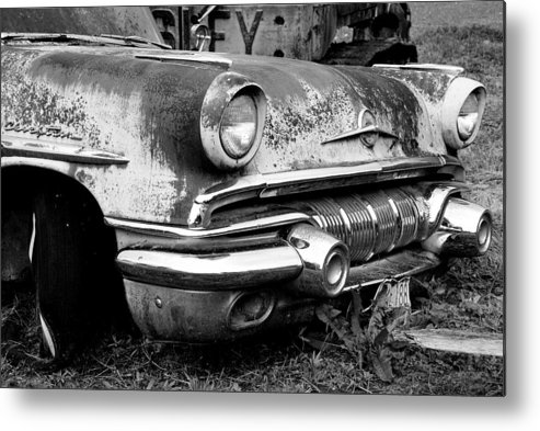 Vintage Cars Metal Print featuring the photograph Waiting by Jennifer Owen