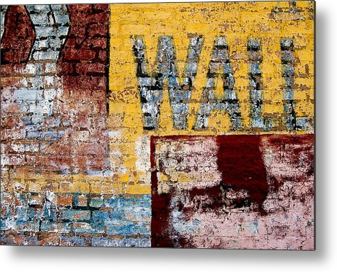 Brick Wall Metal Print featuring the photograph Wall by Curtis Staiger