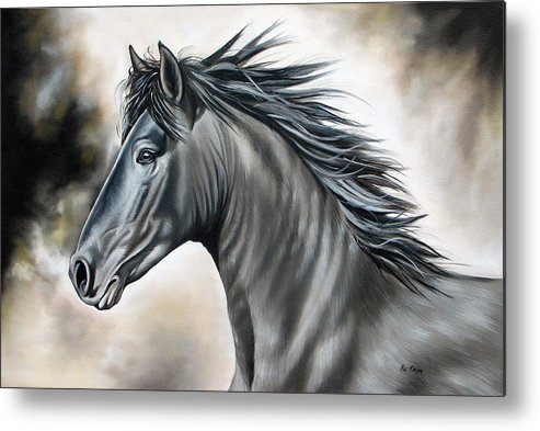 Horse Metal Print featuring the painting Wanapun by Ilse Kleyn