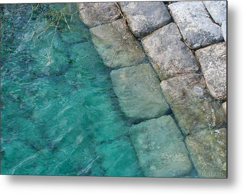 Water Blocks Bricks Metal Print featuring the photograph Water Blocks by Rob Hans