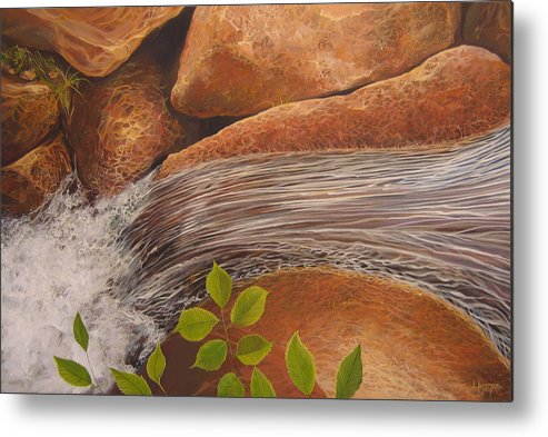 Water Metal Print featuring the painting Water's Edge by Hunter Jay
