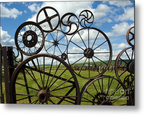 Wheels Metal Print featuring the photograph Wheels by Louise Magno