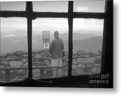 Windows Metal Print featuring the photograph Window On White Mountain by David Lee Thompson