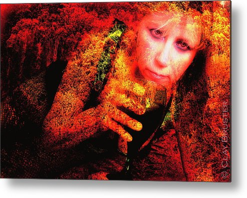 Clay Metal Print featuring the photograph Wine Woman And Fall Colors by Clayton Bruster