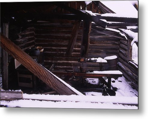 Homesteads Metal Print featuring the photograph Winter Inside by Cynthia Cox Cottam