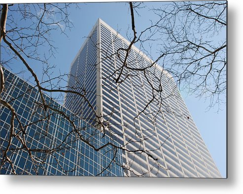 Architecture Metal Print featuring the photograph Wood And Glass by Rob Hans