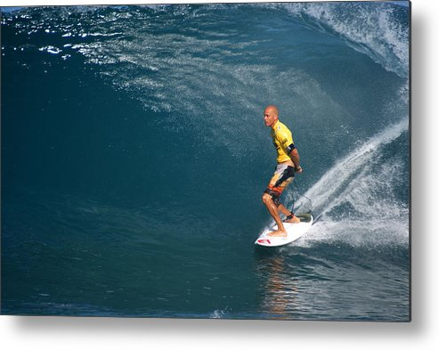 Kelly Slater Metal Print featuring the photograph World Champion X11 by Kevin Smith