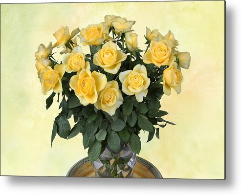 Rose Metal Print featuring the photograph Yello Roses by Manfred Lutzius