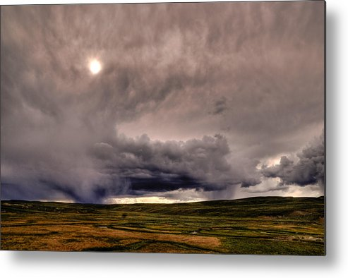 National Park Metal Print featuring the photograph Yellostone Sky by Patrick Flynn