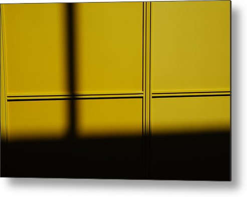 Reflection Metal Print featuring the photograph Yellow Wall by Michael L Gentile