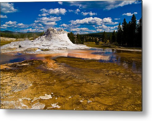 National Park Metal Print featuring the photograph Yellowstone Geyser by Patrick Flynn