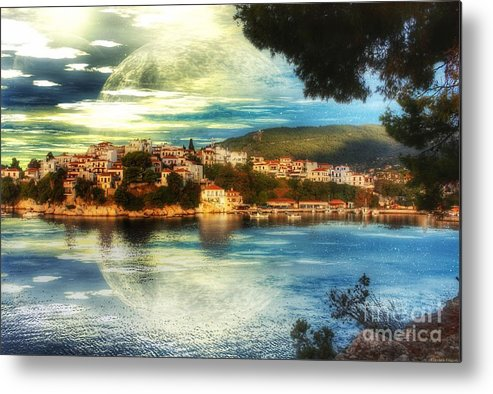 Yvonne Metal Print featuring the digital art Yvonnes World by Abbie Shores
