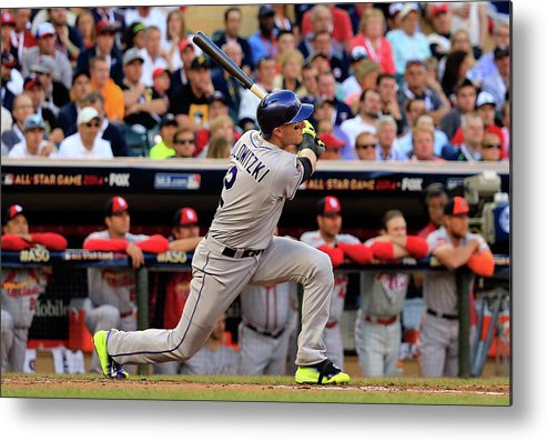 American League Baseball Metal Print featuring the photograph 85th Mlb All Star Game 11 by Rob Carr