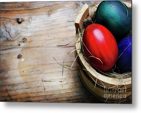 Easter Metal Print featuring the photograph Easter Egg by Jelena Jovanovic